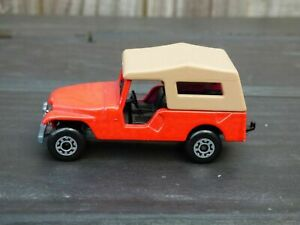 Vintage-1977-Matchbox-Superfast-No-53-JEEP-CJ-6-Red-Willys-Toy-Diecast-Car