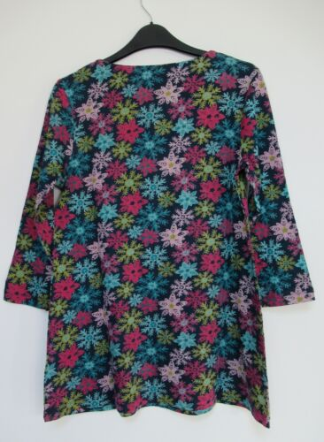 New Mistral scoop neck  Printed print 3//4 sleeve tunic top pockets  Sz 8-18