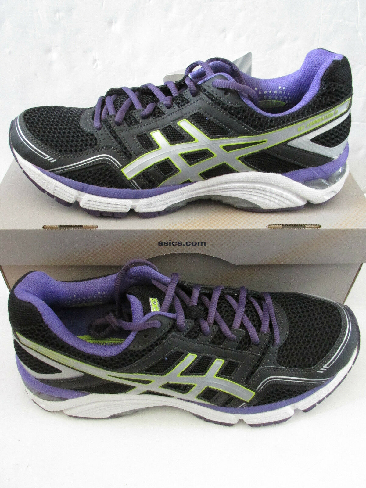 Asics womens womens womens gel-foundation 11 running trainers T2A6N 9091 sneakers shoes a6df50