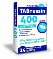 3 Pack Tabtussin 400 Expectorant Guaifenesin 400 Mg 24 Tablets Each on Sale