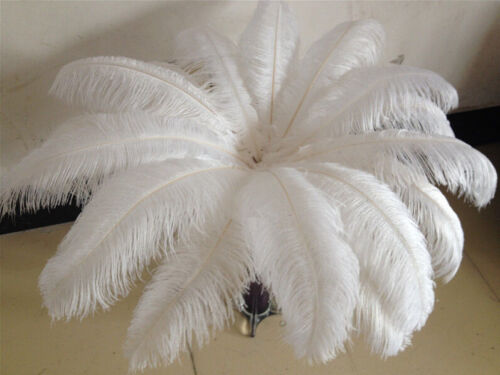 Black Natural Ostrich Feathers 12-14inch Brand new 10-100pcs White 30-35cm