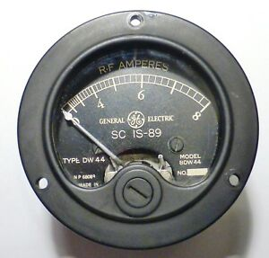 BC191-Amperemetre-HF-IS89-bolometre-0-8A-US-General-Electric-WWII