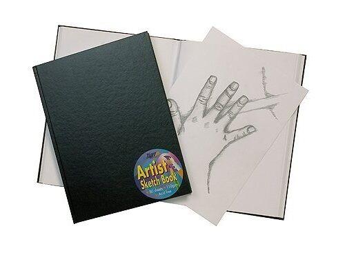 A6 BLACK HARDBACK SKETCH BOOK JOURNAL 80 PAGES 110gsm