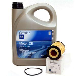 Opel-GM-5w-30-Dexos-2-Longlife-Motoroel-5-Liter-Original-Olfilter-650307-NEU