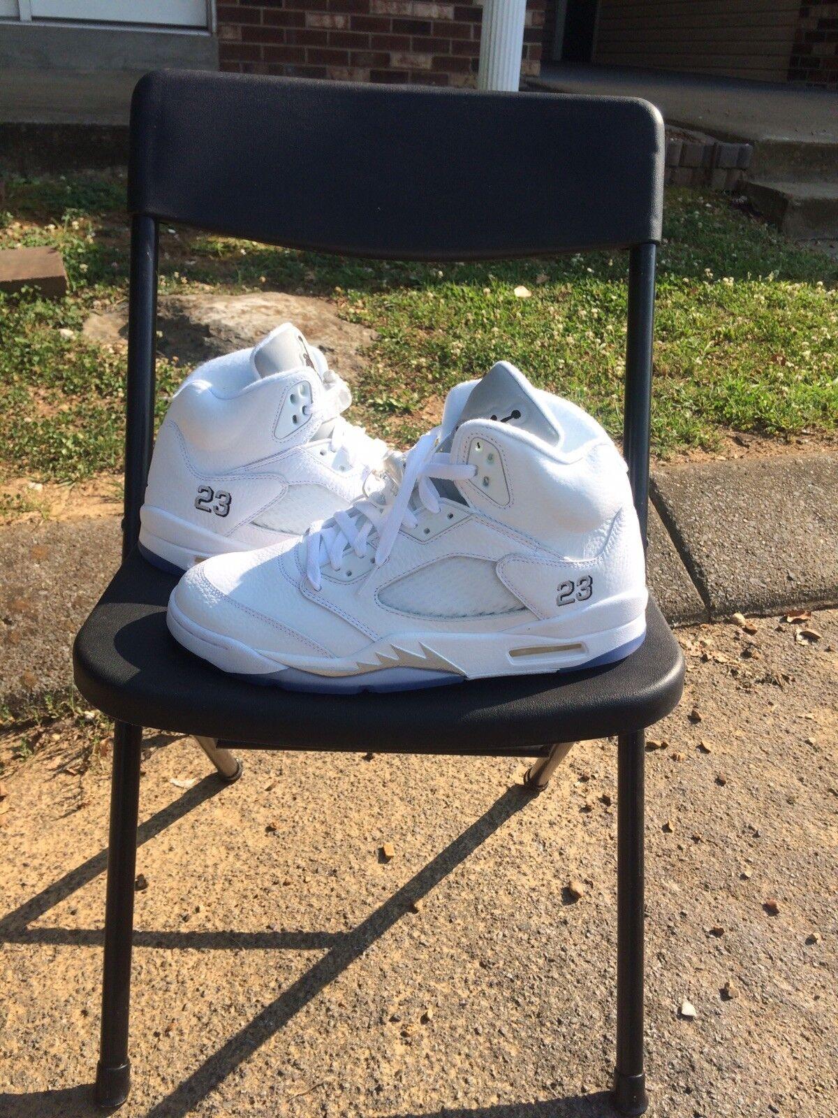 Nike air jordan 5 retro bianco metallico dimensioni