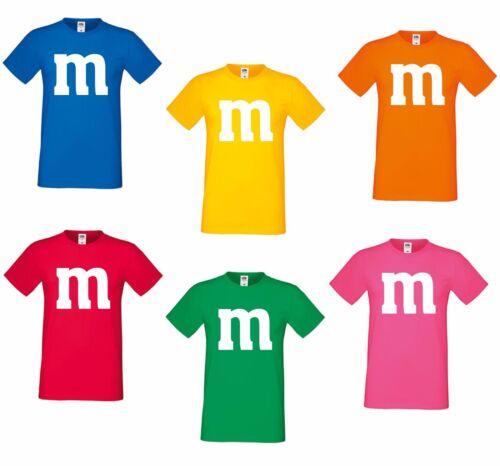 Costume per m/&m fan gruppi Costume COPPIA Costume M e M Carnevale Carnevale mm SHIRT