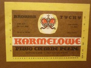 OLD-POLISH-BEER-LABEL-BROWAR-TYCHY-POLAND-KARMELOWE