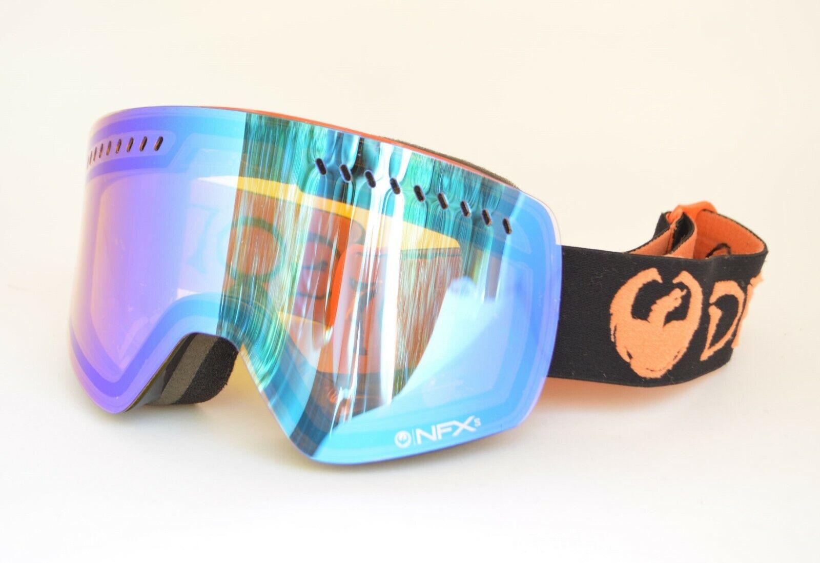 2016 Herren Dragon Nfxs Snowboardbrille One Schwarz Gelb Blau Ionisiert Used