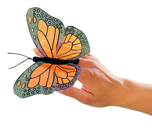 Dito bambola FARFALLA le farfalle monarca dito Cavallina Folkmanis Erebiachristi bambole