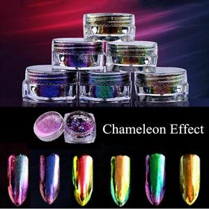 Chameleon-Mirror-Chrome-Effect-Nail-Art-Powder-Pigment-Glitter-Tips-DIY