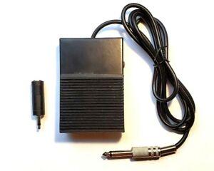 1-4-034-1-8-034-Foot-Pedal-TX-for-HAMdaptor-Microphone-Headset-Adaptors