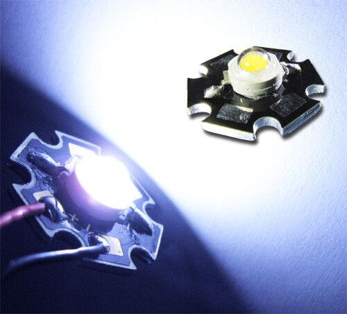 Star 110 LM IMAX = 350ma UF = 3,2v 1w Power LED azul blanco 20000k 20 unidades