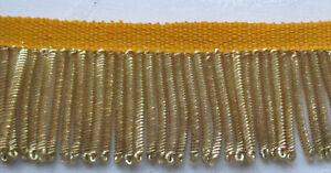 "Vintage Gold Metallic Bullion Fringe Coiled Strands 2 3//4/""  French"