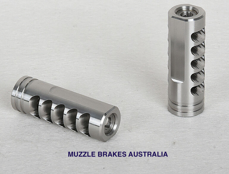 MUZZLE BRAKE VENDETTA STAINLESS 1 2''X28 THREAD .22 CALIBRE 223,22-250