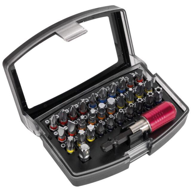 Sealey 32pc Color Codificado Poder Herramienta Destornillador Broca Set S2 Acero