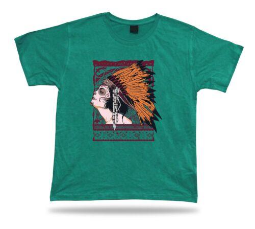 Tshirt Tee Shirt Birthday Gift Idea Indian Girl Skull Makeup Native American