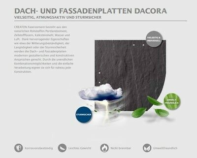 Baustoffe & Holz Obligatorisch Creaton Dacora 20x20cm Faserzement Schieferplatten Deutsche Deckung Weiß Erfrischend Und Wohltuend FüR Die Augen