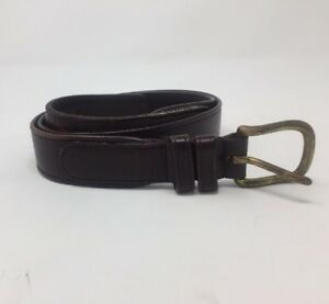Burgundy Vegetable Tanned Belt with Solid Brass Buckle
