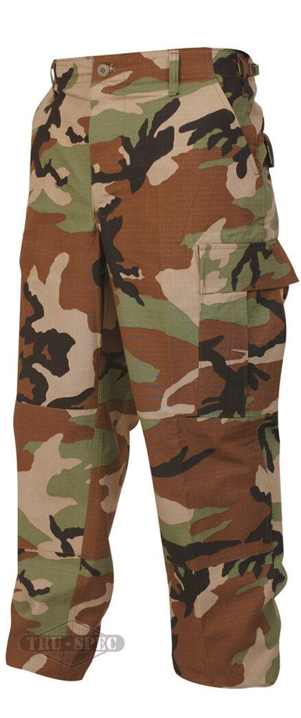 Tru-Spec Woodland BDU Pants 100% Cotton RS