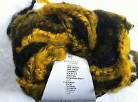 Lang Yarns Sasha 11 Yellow Black Long Fringed Superchunky Wool Bl Yarn 100gr