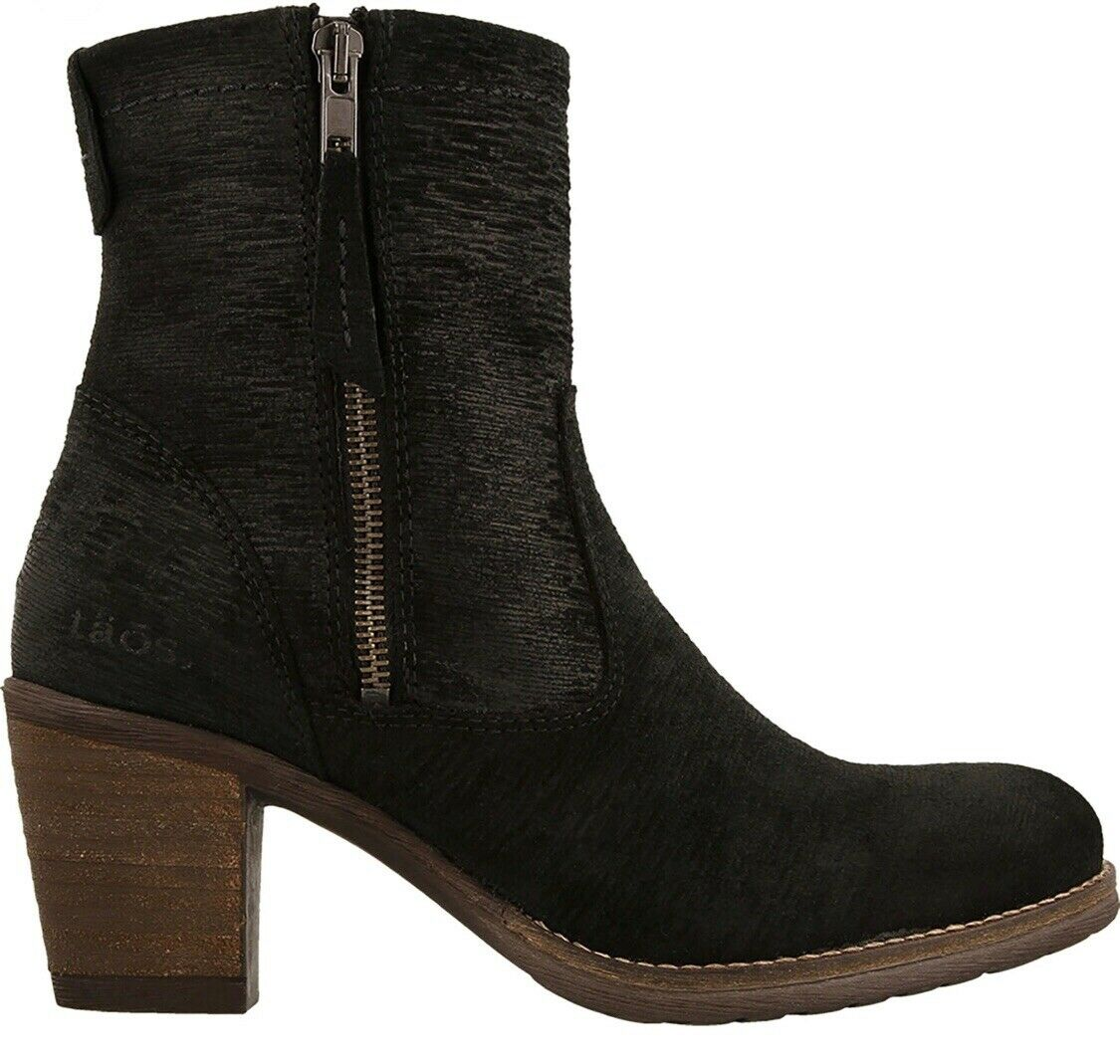 Taos Women's Shaka 2 Black Suede Leather Side Zip Ankle Boot Size 9-9.5 Euro 40