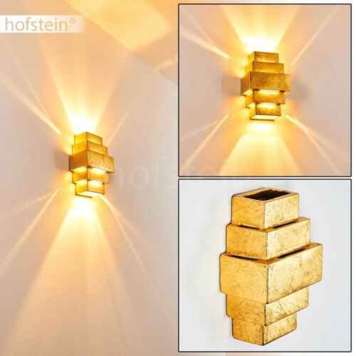Keramik Flur Dielen Beleuchtung goldfarben Wand Leuchte Wohn Schlaf Zimmer Lampe