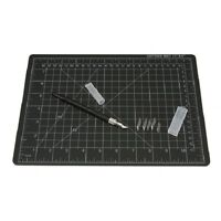Cutting Mat With Craft Knife And 5 Blades Black 8 5/8 In X 11 3/4 In Supplies