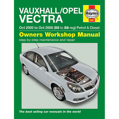 Haynes Manual 4887 Vauxhall Vectra Opel Vectra 1.8i VVT LS Life 2.2i 2005-2008