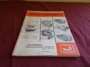 VINTAGE 1966 JACOBSEN  ENGINE  SERVICE MANUAL VERTICAL ~ HORIZONTAL