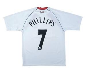 Southampton 2003-04 Authentic AWAY SHIRT Phillips #7 (eccellente) M SOCCER JERSEY