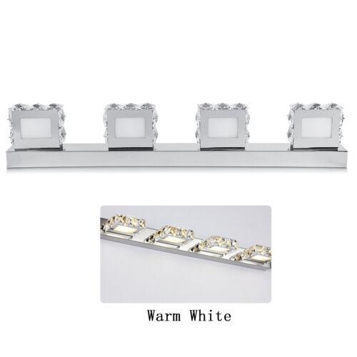 Modern Bathroom LED Crystal Mirror 4 Light Front Wall Lamp Fixture Vanity Lights