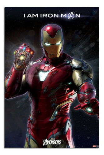 Avengers End Game Poster I Am Iron Man Official Licensed 24 x 36 Inches