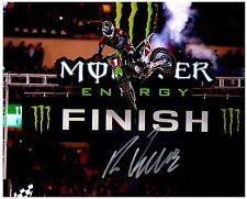"RYAN VILLOPOTO Signed Autographed SUPERCROSS Motocross ""AMA"" 8x10 Photo B"