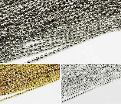 2 oder 2,4mm Meterwar Kette zur Schmuckherstellung Edelstahl Kugelkette Ø1.5