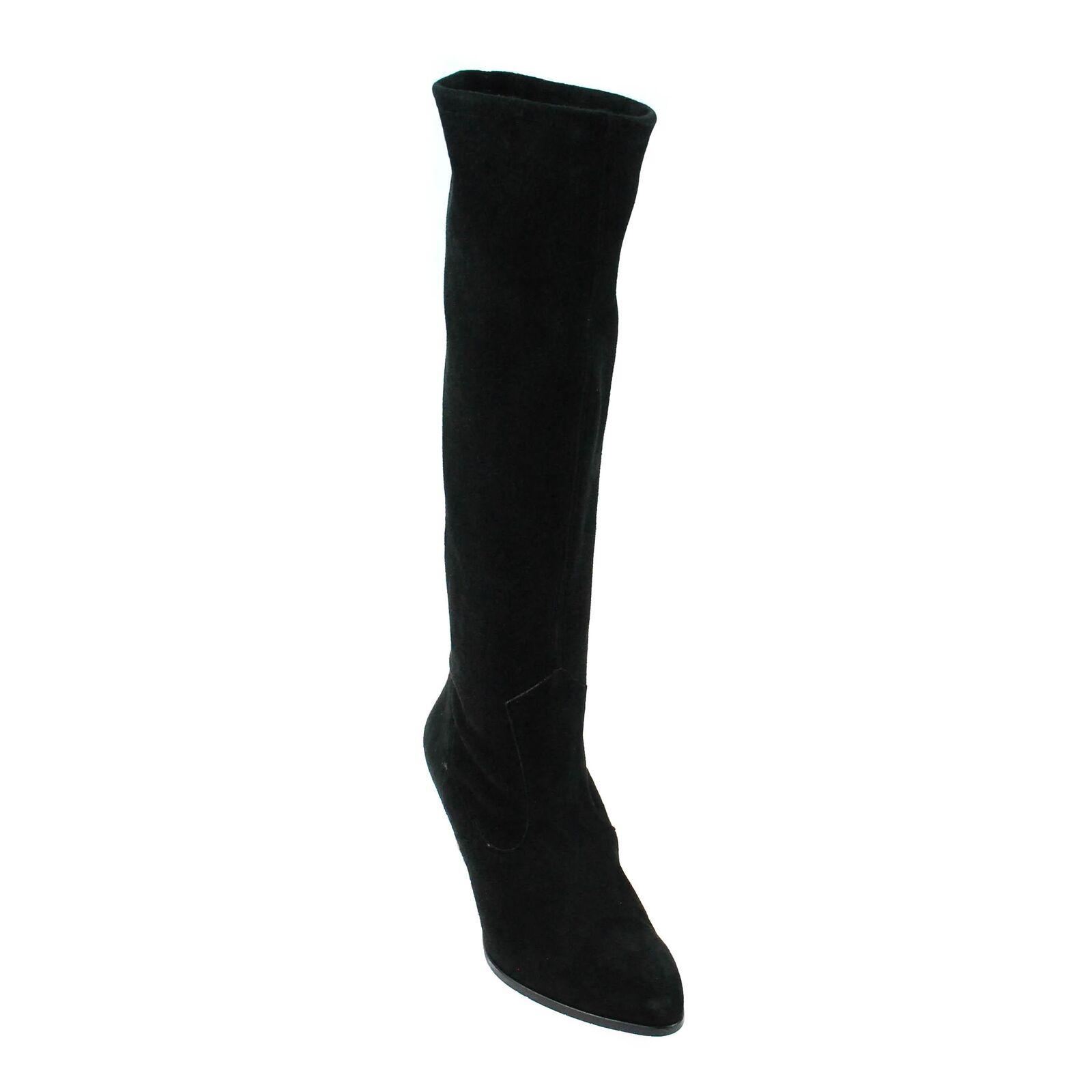Perlato señora botas botas botas de gamuza negro  Web oficial