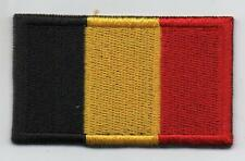 Belgian Flag High Quality Embroided Iron On / Sew On Patch Badge BELGIUM