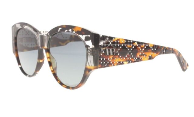 9b835c23cbd Christian Dior Lady Dior Studs 2 Aci1i Grey Havana Sunglasses Italy ...
