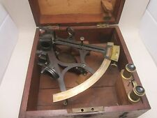 """Vintage Antique Sextant by L. Casella """"Maker to the Admiralty, London"""" W/ Case"""