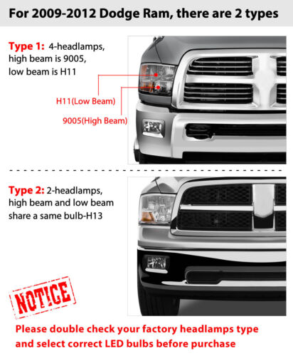 Combo LED Bulbs Kit for Ford Expedition 2007-14 High Low Beam H13 Fog Light 9145