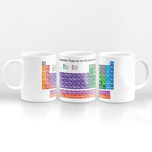 Periodic Table Science Drinks Mug Cup Kitchen Birthday Office Fun Gift #8168