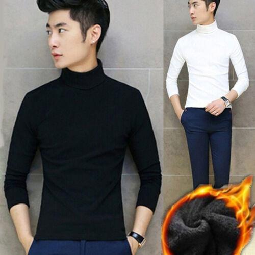 Men Long Sleeve Turtleneck Pullover Sweater Winter Warm Basic Shirts Tops M-2XL