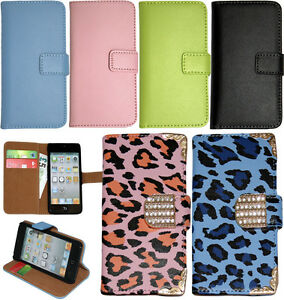 Genuine-Leather-Wallet-Stand-Case-Cover-For-APPLE-iPod-Touch-5th-6th-Generation