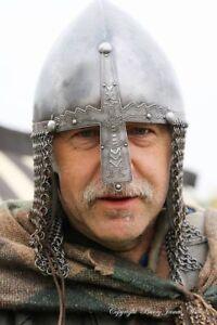 Antique-Steel-spartan-gladitor-barbute-Norman-Nasal-Helmet-with-ChainMail-Helmet