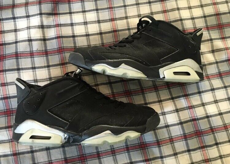 Air Jordan 6 Black And Gray Size 9