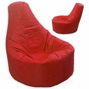 Red-Large-Bean-Bag-Gamer-Beanbag-Adult-Outdoor-Gaming-Garden-Big-Arm-Chair
