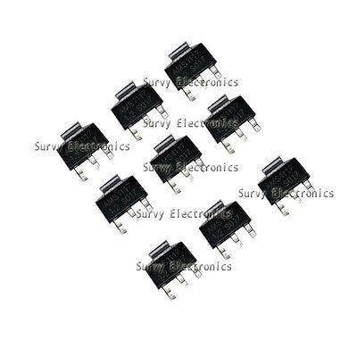 100pcs AMS1117 AMS117-3.3 3.3V 1A Voltage Regulator SOT-223 Good Quality New