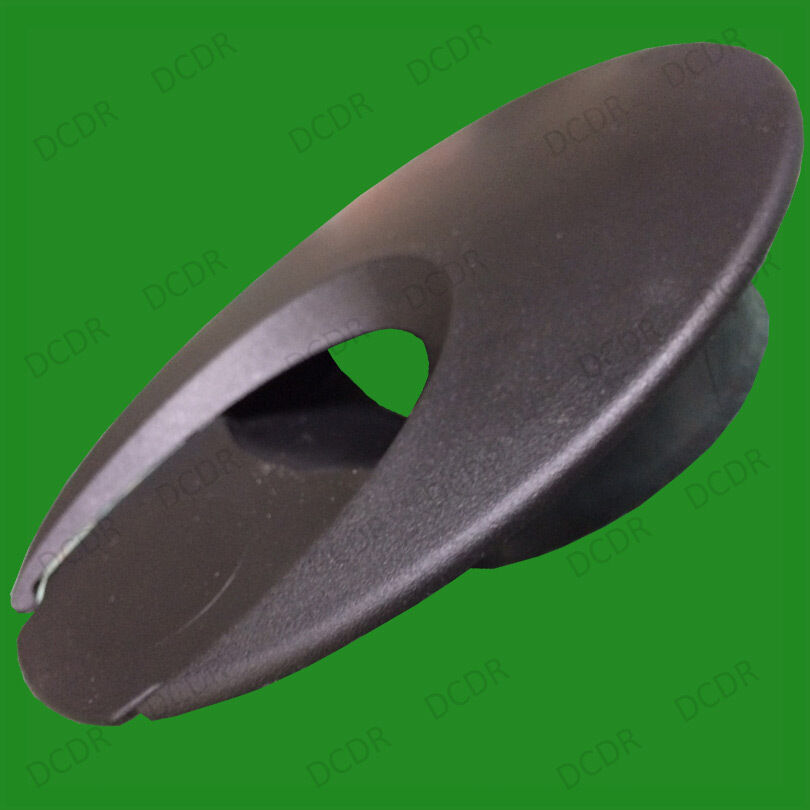 2x 80mm Black Domed Grommet Computer Office Table Oval Cable Tidy Outlet Cover