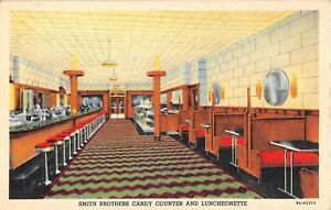 Vintage Linen Smith Brothers Restaurant Poughkeepsie Unused Postcard