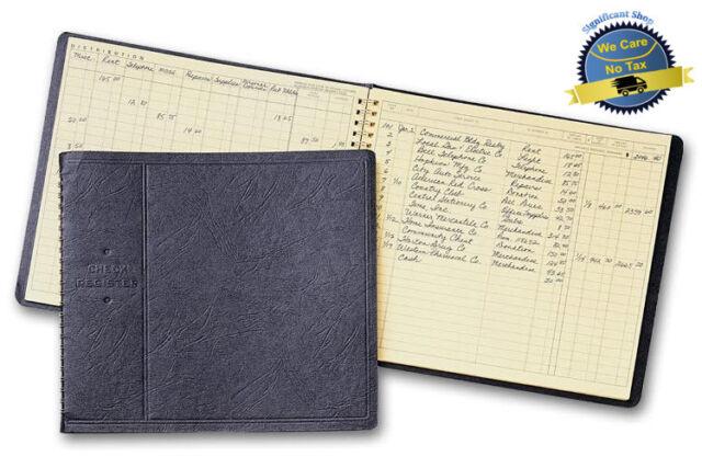 business check deposit register disbursement journal epg notebook