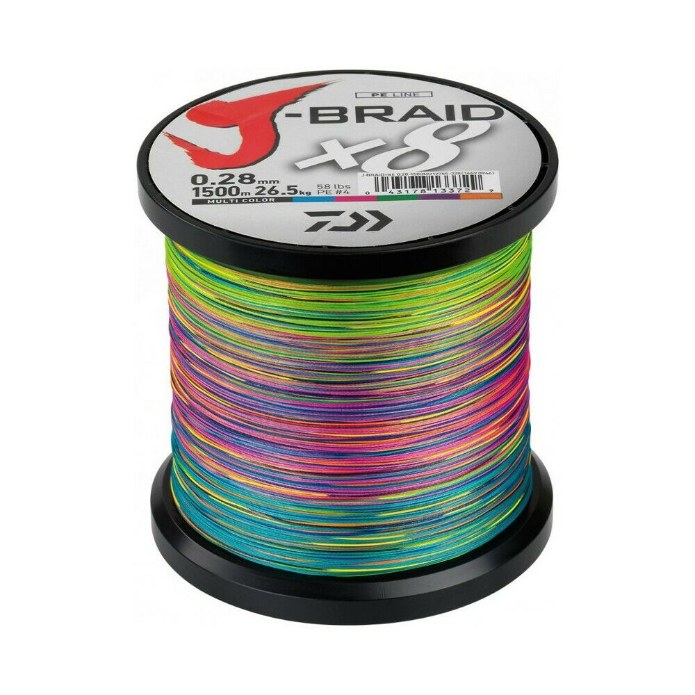 Daiwa J Braid X8 Tresse MultiColoreee  1500M